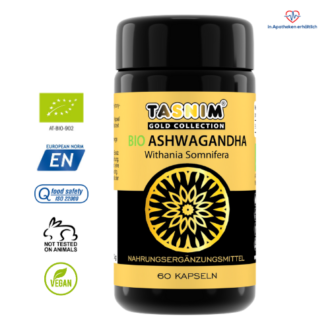 Bio Ashwagandha - 60 Kapseln - Gold Collection - Tasnim