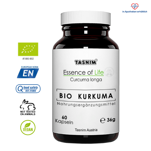 Bio Kurkuma - Essence of Life Tasnim - mit Icons