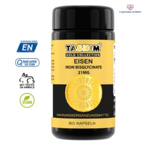 Eisen 21mg - Eisenbisglycinat - 60 Kapseln