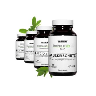 Tasnim BCAA, Tasnim Magnesiumcitrat, Tasnim Omega 3, Tasnim Vitamin D3