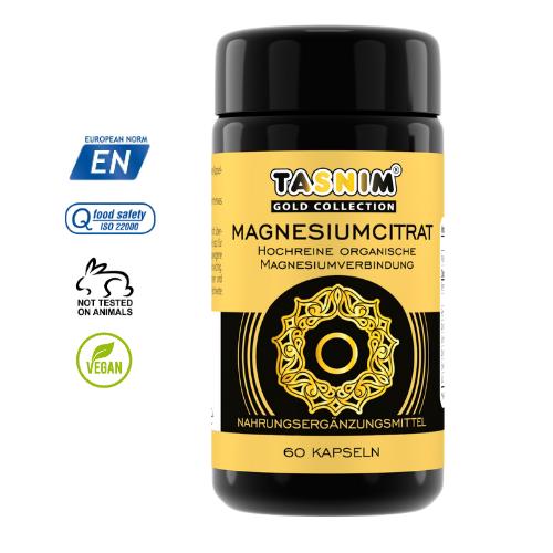 Magnesiumcitrat - 60 Kapseln - Tasnim
