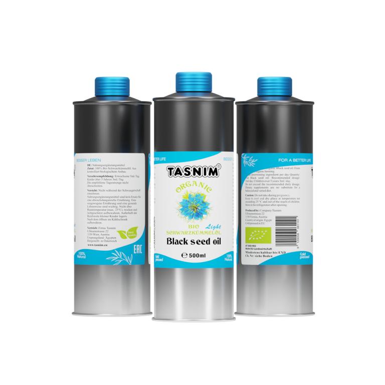 Tasnim Bio Schwarzkümmelöl Light - 500ml - 3er