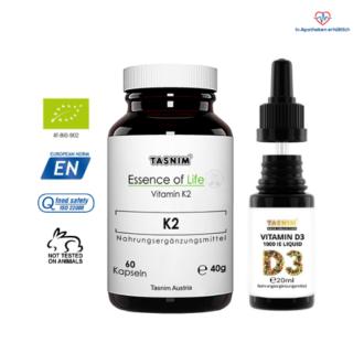 Vitamin D3 1000IE + Vitamin K2 - Tasnim