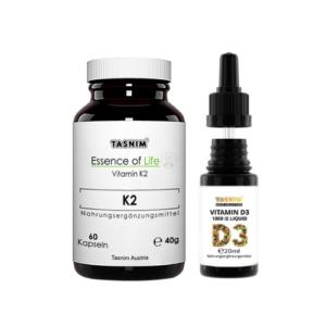 Vitamin K2 + D3 1000IE - D3 Kombipaket