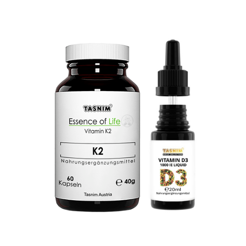 Vitamin K2 Vitamin D3 Tropfen Kombipaket Tasnim